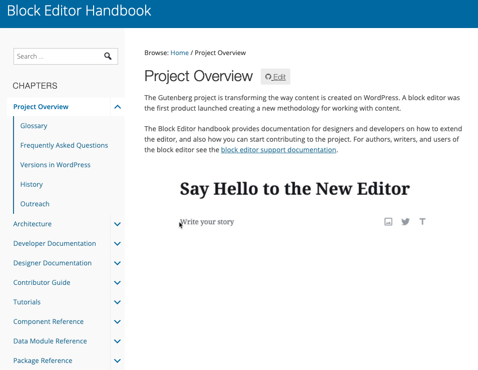 WordPress - The Block Editor Handbook